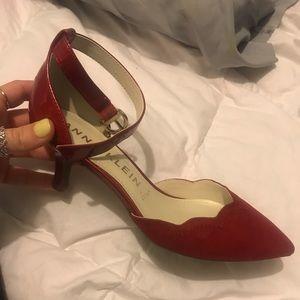 Anne Klein Red heeled shoe size 7